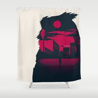 runner Shower Curtains featuring Blade Runner by Inno Theme