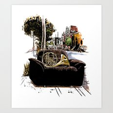 Chairs of Montreal Art Print