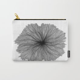 Jellyfish Flower B&W Carry-All Pouch