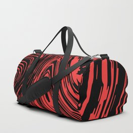 Red and black marble pattern Duffle Bag