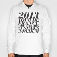 tour de france Hoodies featuring 2013 Tour de France: Maillot Jaune by Dushan Milic