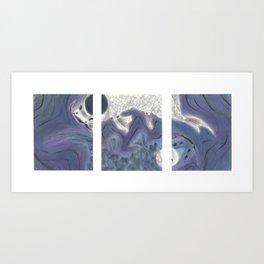 Yin and Yang Koi Triptych Art Print