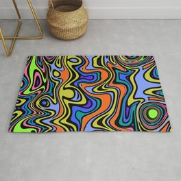 Psychedelic pattern Rug