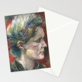 MARIE CURIE - watercolor portrait.3 Stationery Cards