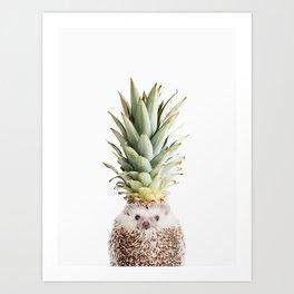 Hedgehog Pineapple Art Print