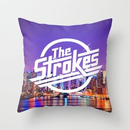 The Strokes Logo New York Night Throw Pillow