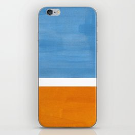 Rothko Minimalist Abstract Mid Century Color Black Square Periwinkle Yellow Ochre iPhone Skin