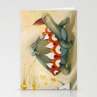 turtle Stationery Cards featuring Turtle by Darja Charapova