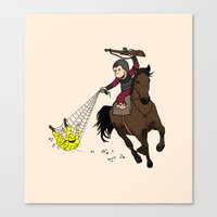 planet of the apes Canvas Prints featuring Curious George/Planet of the Apes by The Cracked Dispensary