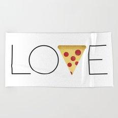 Love = Pizza Beach Towel