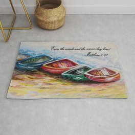 Even the Winds and Waves Rug