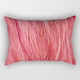 Pink Feather Texture Rectangular Pillow