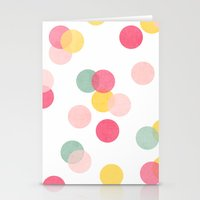 confetti Stationery Cards featuring confetti by her art