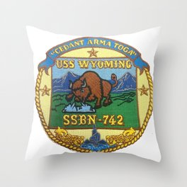 USS WYOMING (SSBN-742) PATCH Throw Pillow