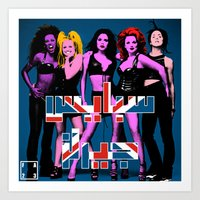 spice girls Art Prints featuring Spice Girls by FA 23