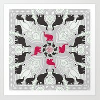 Newport Elephants Art Print