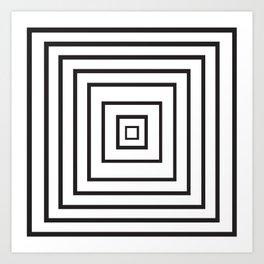 geo squares Art Print