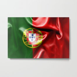 Portugal Flag Metal Print