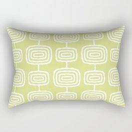 Mid Century Modern Atomic Rings Pattern 731 Chartreuse Rectangular Pillow