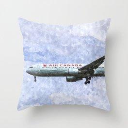Air Canada Boeing 777 Art Throw Pillow