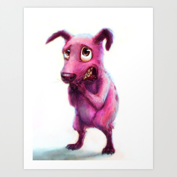 Courage The Cowardly Dog Art Print By Cinemamind Society6