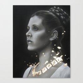 Carrie Fisher - Princess Leia Canvas Print