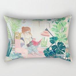 Urban garden apt Rectangular Pillow