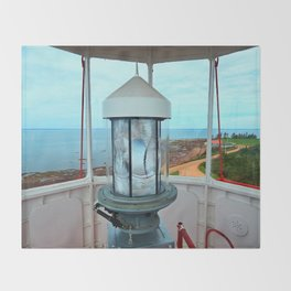 Point Prim Lighthouse View Throw Blanket