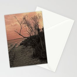 Diffused Beach Tree Stationery Cards
