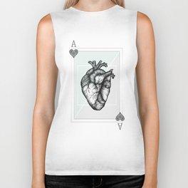 Ace Of Hearts - Mint Biker Tank