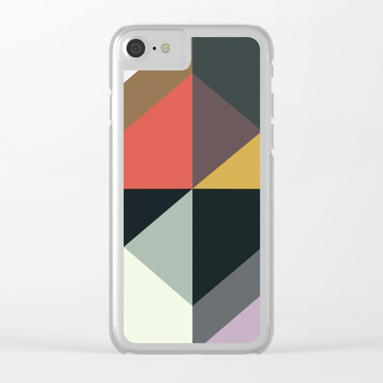 Abstract Pattern Once Again Clear iPhone Case