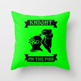 Stag Knight on the Piss Throw Pillow