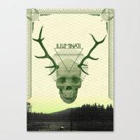 illuminati Canvas Prints featuring IlluminatI by Tommy Cash