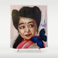 ahs Shower Curtains featuring Ma Petite-AHS by MELCHOMM
