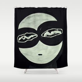 ONO FACE BLACK BACKGROUND Shower Curtain