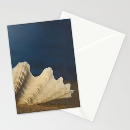Big White Shell on the Sandy Beach Stationery Cards