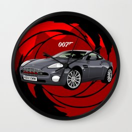 Aston Martin Vanquish V12 from Die Another Day Wall Clock