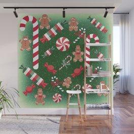 Christmas Candy Cheer Wall Mural