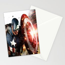 Man Of Captain In America Stationery Cards