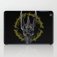middle earth iPad Cases featuring The Dark Lord of middle Earth by ddjvigo