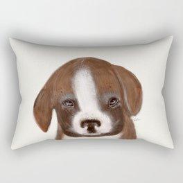 little boxer Rectangular Pillow