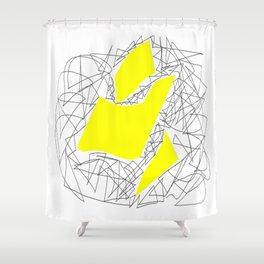 Collage yellow gar Shower Curtain