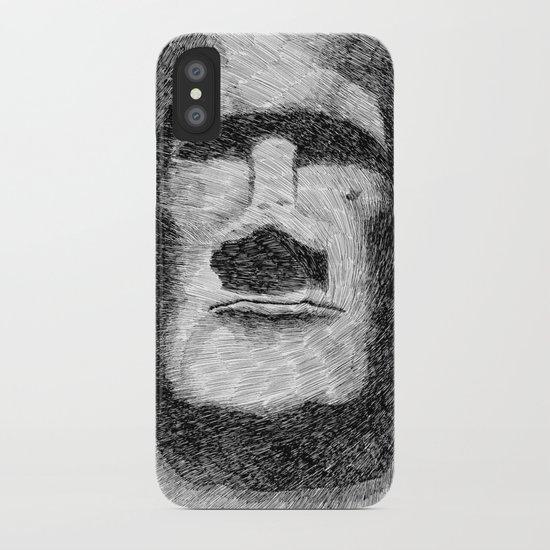 Easter island - Moai statue - Ink iPhone Case