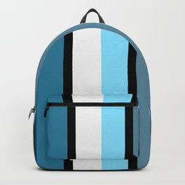 Blue white black stripes pattern Backpack