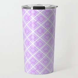 Electric Violet Interlock Pattern Travel Mug