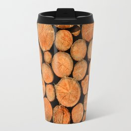 stack of wood Travel Mug
