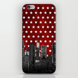 Night city stars iPhone Skin