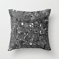 trip Throw Pillows featuring Trip by Hugo F G