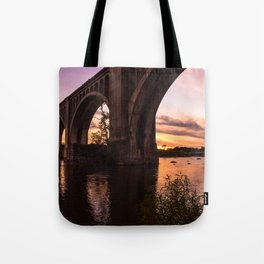 CSX A-Line Sunset Tote Bag