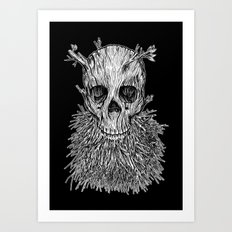 Lumbermancer B/W Art Print